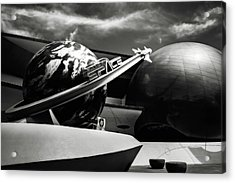 Mission Space Black And White Acrylic Print by Eduard Moldoveanu