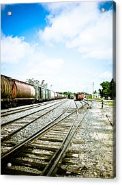 Mission Street Train Yard Acrylic Print