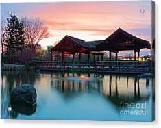 Acrylic Print featuring the photograph Mississauga Japanese Garden by Charline Xia