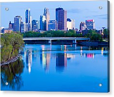 Mississippi And Minneapolis Acrylic Print