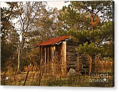 Acrylic Print featuring the photograph Mississippi Corn Crib by Tamyra Ayles