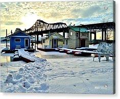 Mississippi River Boathouses Acrylic Print
