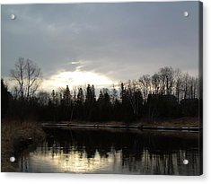 Acrylic Print featuring the photograph Mississippi River Dawn Clouds by Kent Lorentzen
