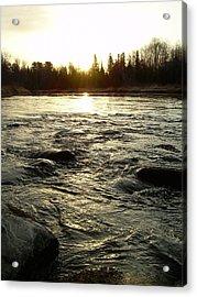 Mississippi River Dawn Reflection Acrylic Print by Kent Lorentzen