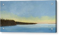 Mississippi River Delta At Dawn Acrylic Print