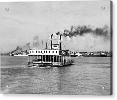 Mississippi River Ferry Boat Acrylic Print by Underwood Archives