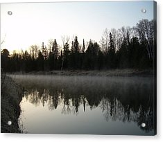 Acrylic Print featuring the photograph Mississippi River Fog Reflection by Kent Lorentzen