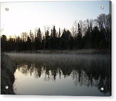 Mississippi River Fog Reflection Acrylic Print by Kent Lorentzen