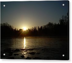 Acrylic Print featuring the photograph Mississippi River Golden Sunrise by Kent Lorentzen
