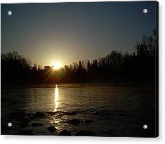 Mississippi River Golden Sunrise Acrylic Print by Kent Lorentzen