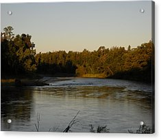 Mississippi River Morning Glow Acrylic Print