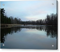 Acrylic Print featuring the photograph Mississippi River Morning Reflection by Kent Lorentzen