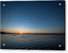Mississippi River Sunrise Acrylic Print