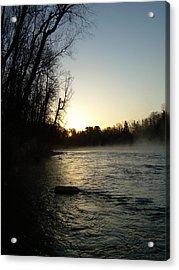 Mississippi River Sunrise Shadow Acrylic Print by Kent Lorentzen