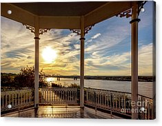 Mississippi River View Acrylic Print by Joan McCool