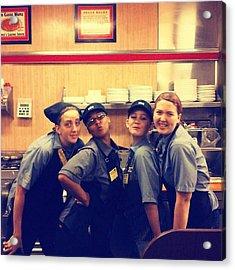 Mississippi Waffle House Girls Acrylic Print