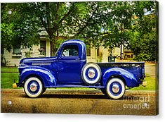 Acrylic Print featuring the photograph Missoula Blue Truck by Craig J Satterlee