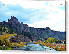 Missouri River Colors Acrylic Print