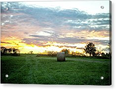 Acrylic Print featuring the photograph Missouri Sunset by Wade Courtney