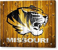 Missouri Tigers Barn Door Acrylic Print