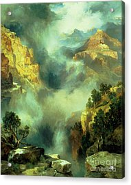 Mist In The Canyon Acrylic Print by Thomas Moran