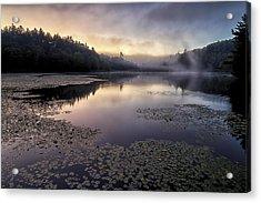Bass Lake Sunrise - Blue Ridge Parkway Acrylic Print