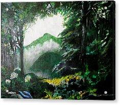 Mist On The Mountain Acrylic Print