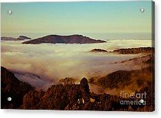 Mist Over Apuseni Acrylic Print by Gabriela Insuratelu