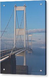 Mist Over The Severn Acrylic Print by Brian Roscorla