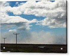 Mist Over Vestmannaeyjar Acrylic Print by Sidsel Genee