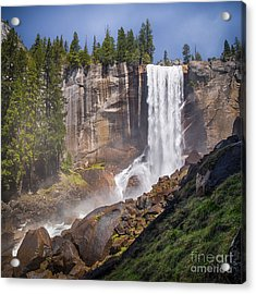 Mist Trail And Vernal Falls Acrylic Print
