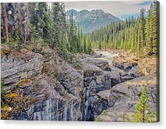 Acrylic Print featuring the photograph Mistaya Canyon by Jim Dollar