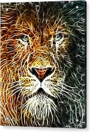 Acrylic Print featuring the mixed media Mistical Lion by Paul Van Scott