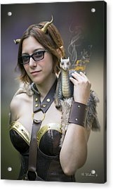 Mistress Of Dragons Acrylic Print by Brian Wallace