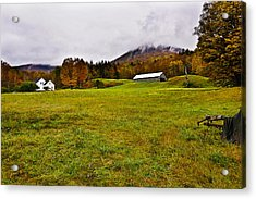 Misty Autumn At The Farm Acrylic Print