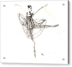 Misty Ballerina Dancer IIi Acrylic Print