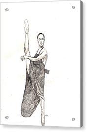 Misty Ballerina Dancer  Acrylic Print