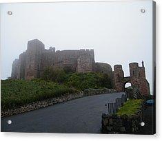 Misty Bamburgh Castle Acrylic Print
