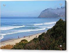 Misty Beach Morning Acrylic Print