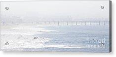 Misty Beach Morning  Acrylic Print by Nicholas Burningham