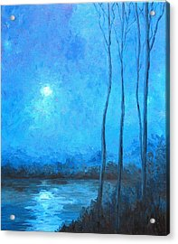 Misty Blue Acrylic Print by Beth Maddox