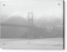 Misty Bridge Acrylic Print by Donna Blackhall