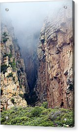 Acrylic Print featuring the photograph Misty Canyons by Phyllis Denton