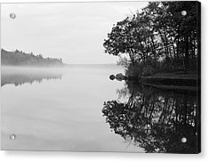 Misty Cove Acrylic Print by Luke Moore