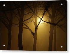 Misty Cross Acrylic Print by Erik Tanghe