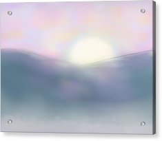 Misty Dawning Acrylic Print