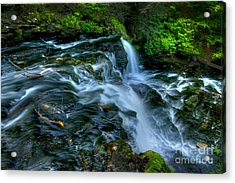Misty Falls - 2976 Acrylic Print by Paul W Faust -  Impressions of Light