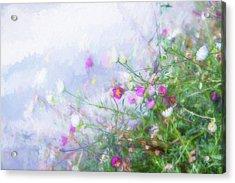 Misty Floral Spray Acrylic Print by Terry Davis