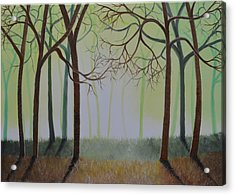 Misty Forest Acrylic Print by Sven Fischer