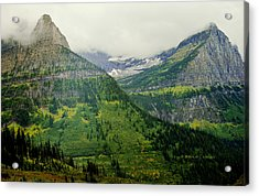 Acrylic Print featuring the photograph Misty Glacier National Park View by Kae Cheatham